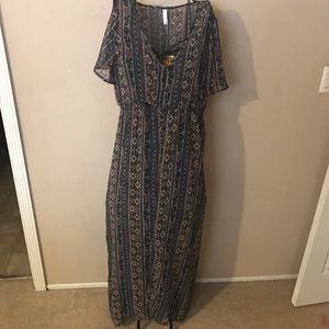 🎉Sheer duster maxi dress size L/XL cute look🎉